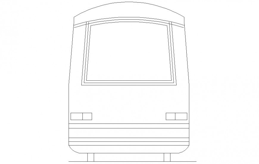 Train drawing 2d view of transportation units dwg file