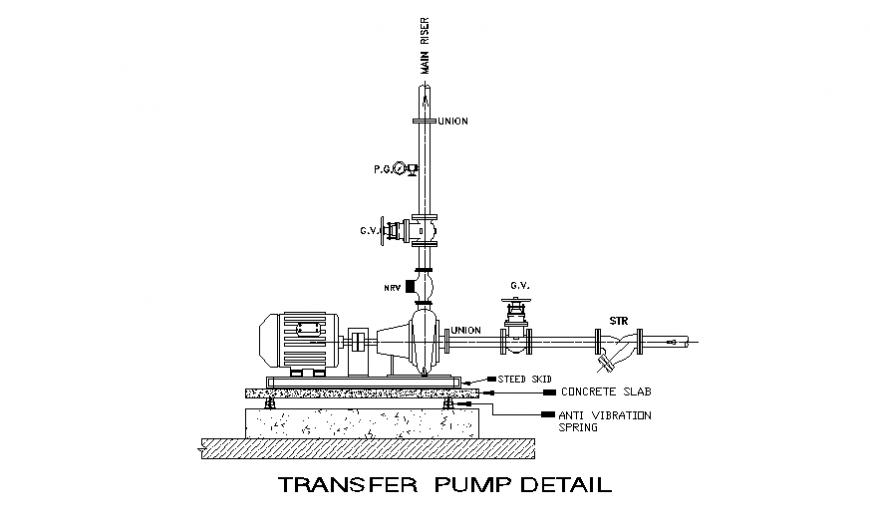 Transfer pump detail dwg file