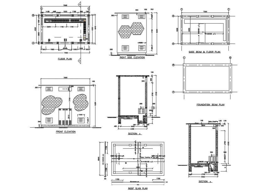 Transformer small house detailed architecture project dwg file