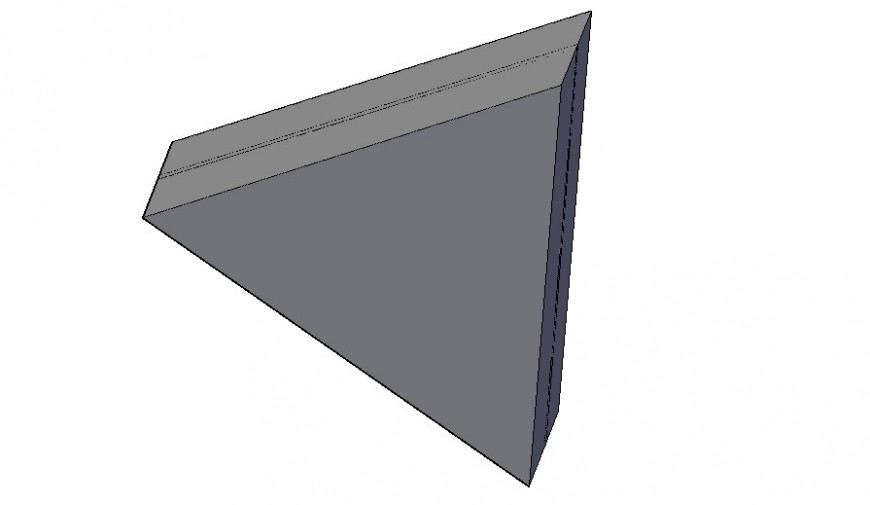 Triangle light cad 3d model drawing in autocad