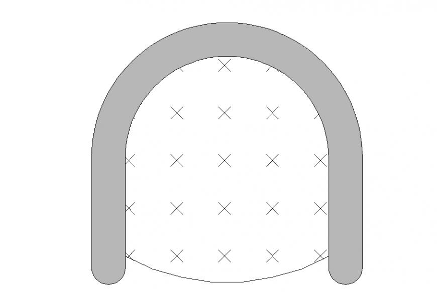 Tub Round shape chair Block design