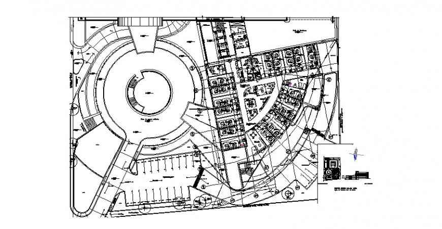 Tultitlan hospital building architecture layout plan cad drawing details dwg file