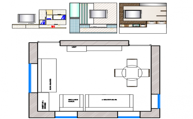 tv unit designs file, layout plan of a room