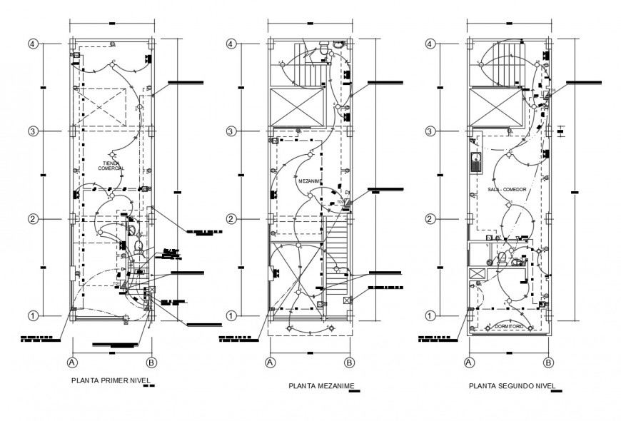 TV cable and water tube line in floor plan of auto cad file