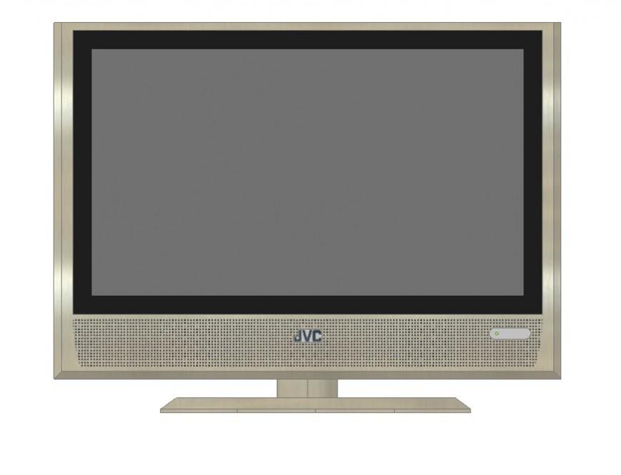 Tv unit detail 3d model layout file in autocad format