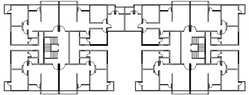 Twin houses cover and framing plan structure details dwg file