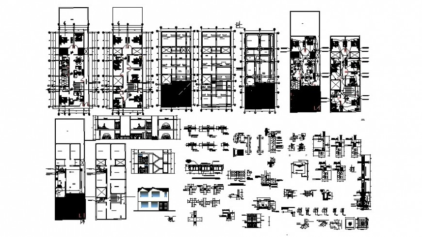 Two floor plan of house with necessary detail  in AutoCAD
