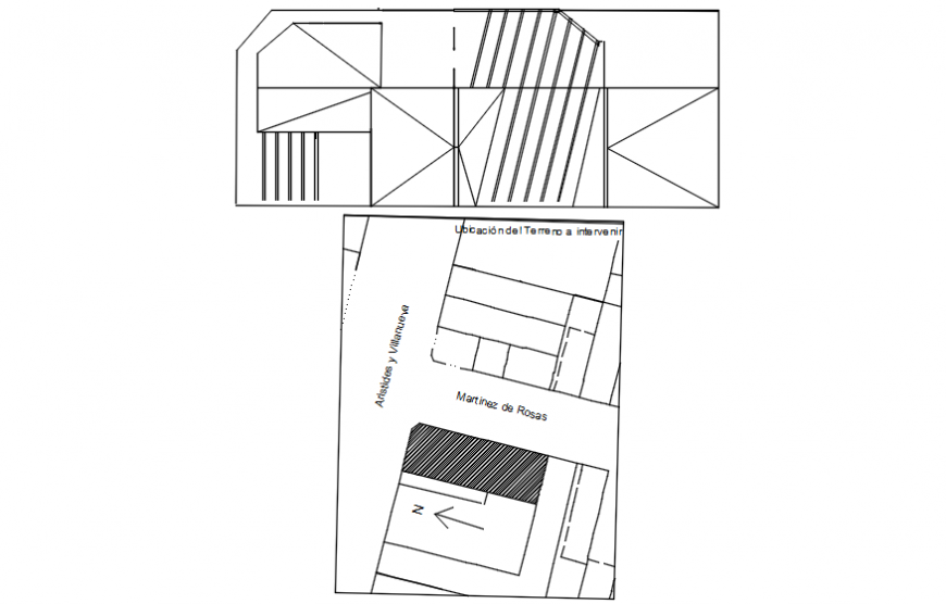 Two floor restaurant layout plan in AutoCAD software