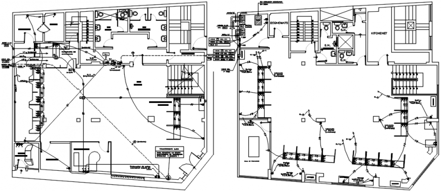 [DIAGRAM_4PO]  Two floors electrical installation layout plan with diagram details for  villa dwg file - Cadbull | Villa Electrical Plan |  | Cadbull