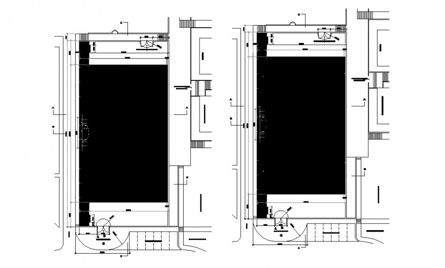 Two floors framing plan structure details of residential house dwg file