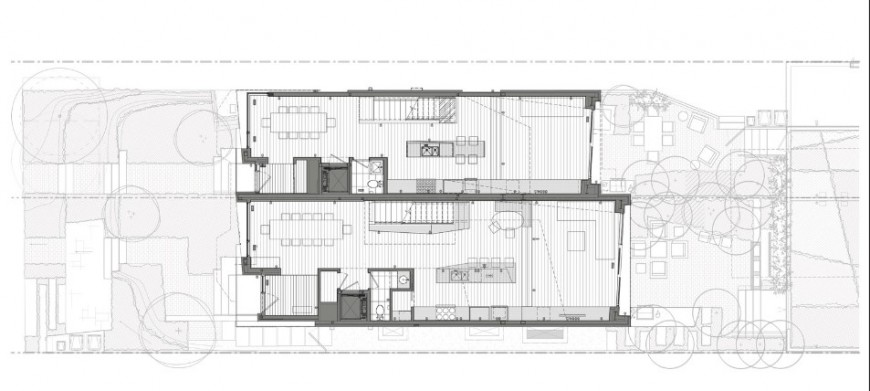 Two level luxuries bungalow floor plan cad drawing details jpg file