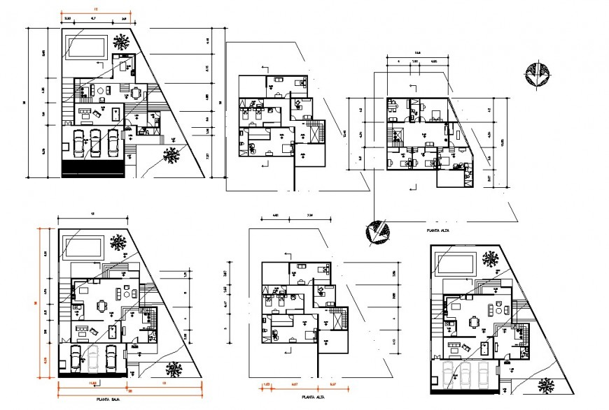 Two option house planning autocad file