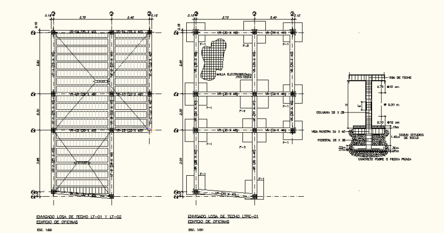 Two silvers structure office building detail elevation autocad file