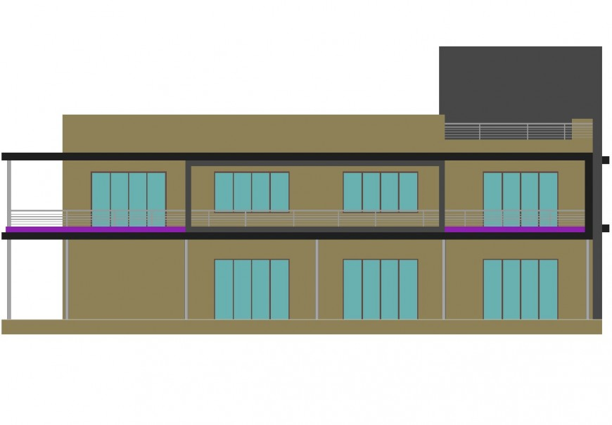 Two story apartment details drawing in autocad