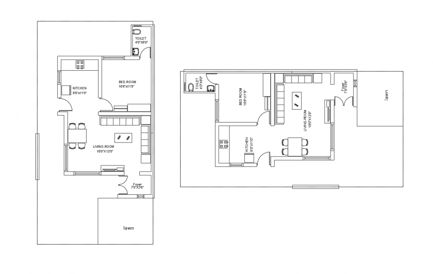 Two story house floor plan distribution cad drawing details dwg file