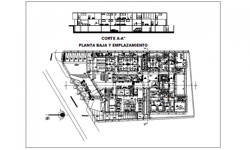 Type - A section design of Hospital design drawing