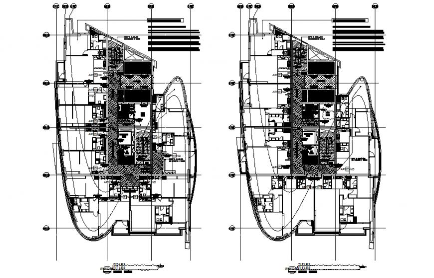 Typical 37 flooring residential building tower floor plan details dwg file