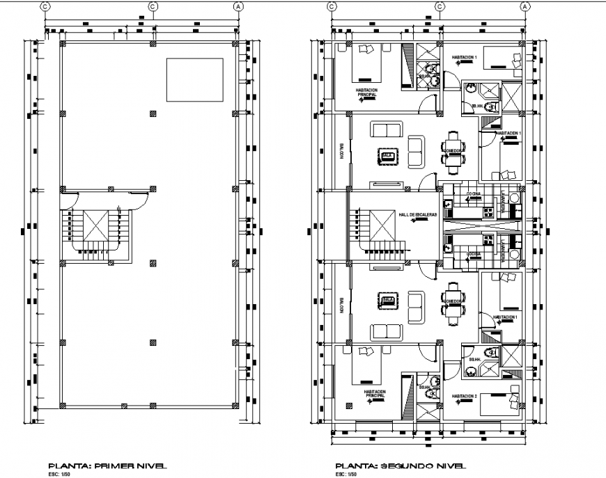 Typical apartment interior layout plan in dwg AutoCAD file.