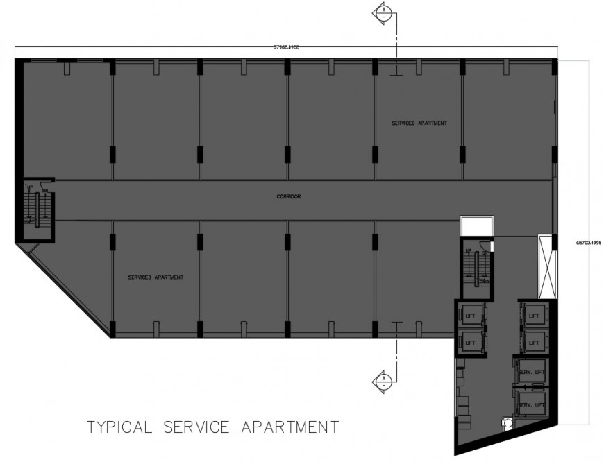 Typical apartment layout plan cad file