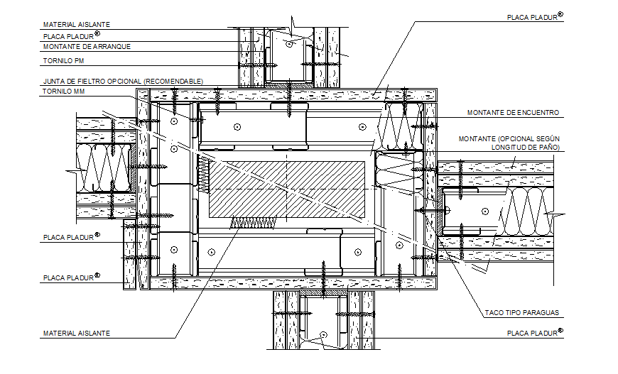 Typical beam and column junction detail drawing in dwg file.