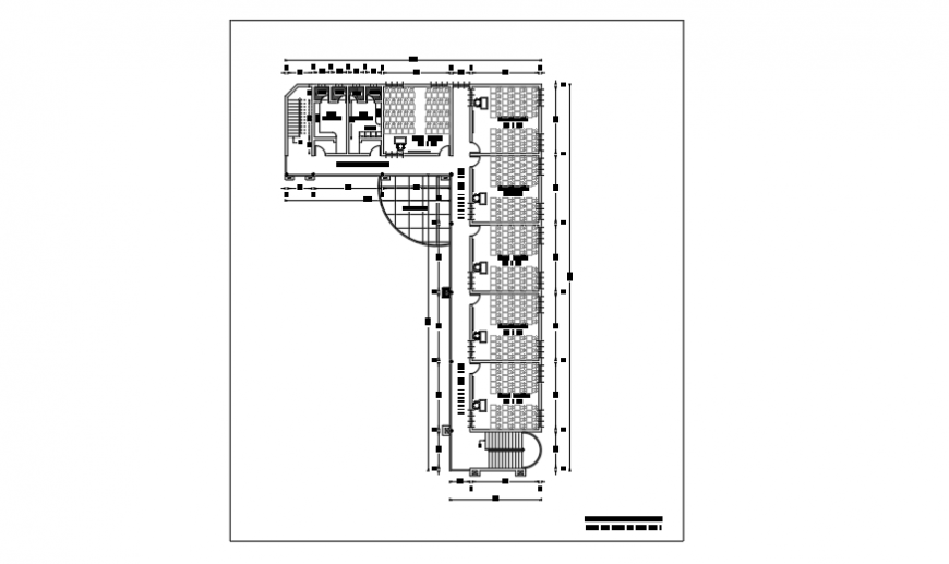 Typical floor first & second floor layout design of preliminary school design drawing
