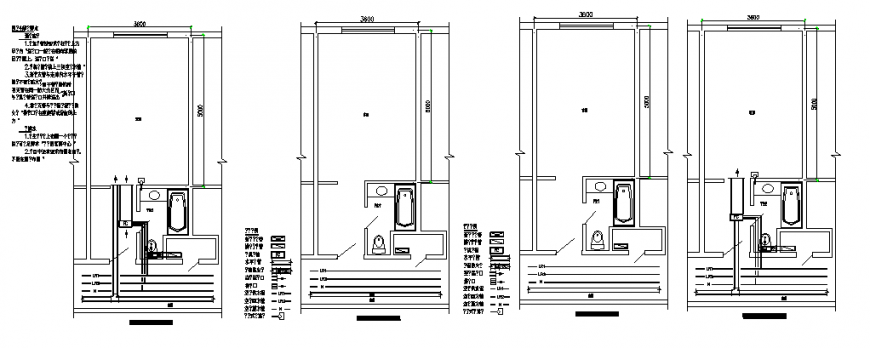 Typical floor toilet 2 d planning autocad file
