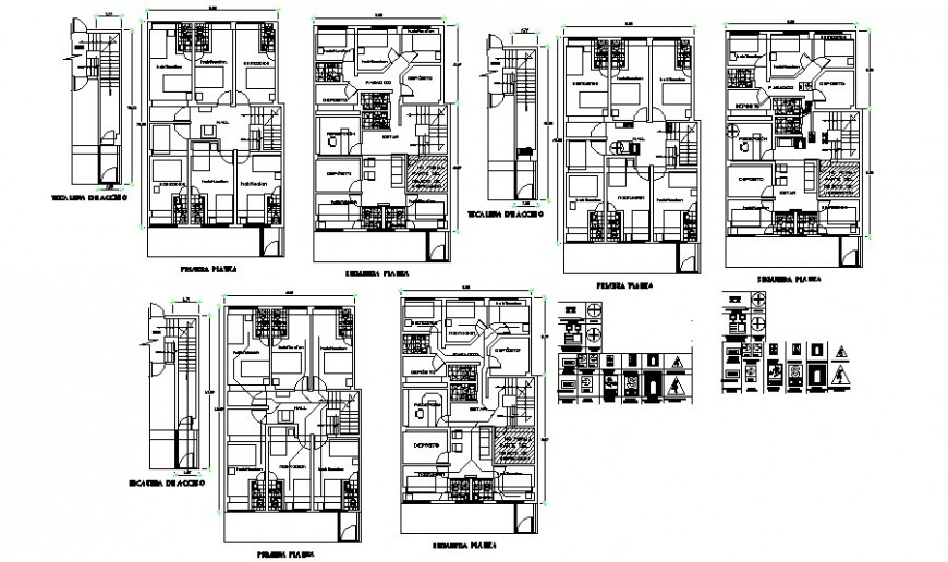 Typical ground floor and first floor layout plan in AutoCAD file.