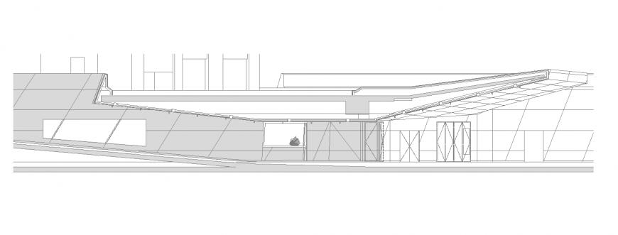 Underground parking entrance design in dwg file.