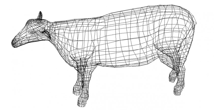 Unique buffalo 3d elevation block cad drawing details dwg file