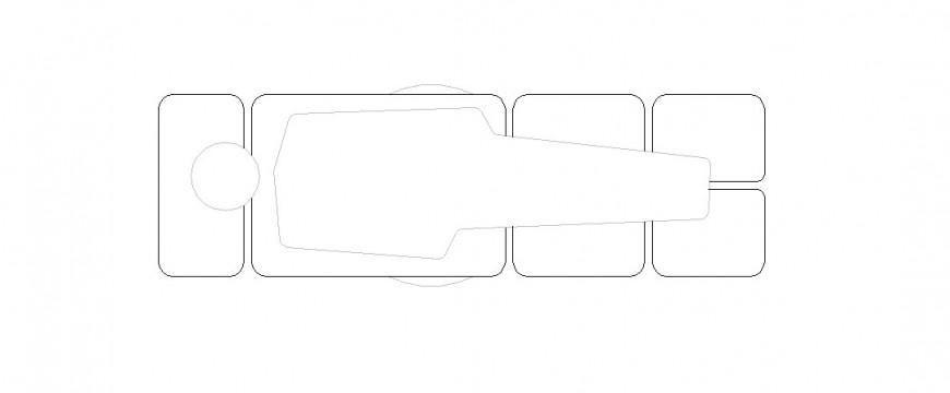 Unique patient bed with men figure elevation block details dwg file