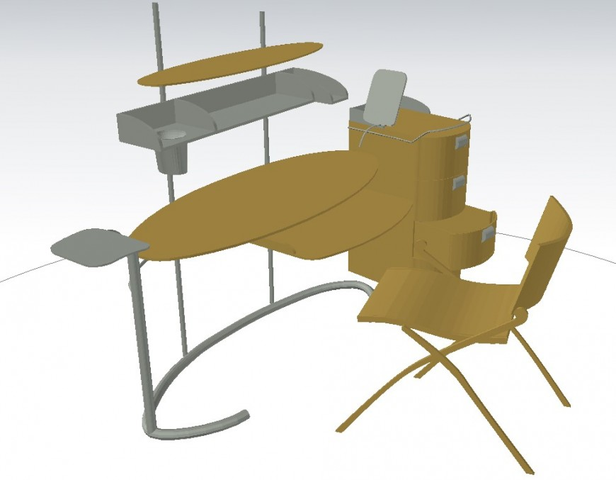 Unique shape study table in dwg file.