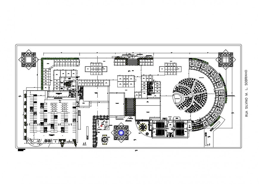 University of southern santa distribution plan cad drawing details dwg file