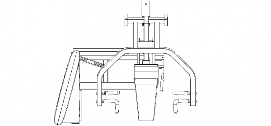 Up down movement of the body equipment design for Jim equipment view dwg file