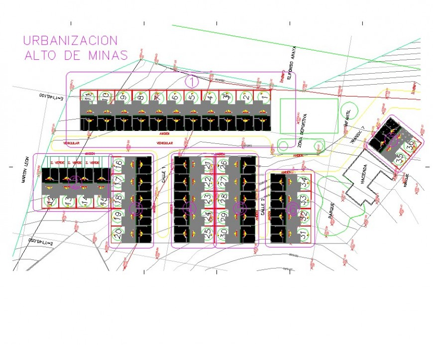 Urban area contour mapping detail CAD block layout file in autocad format