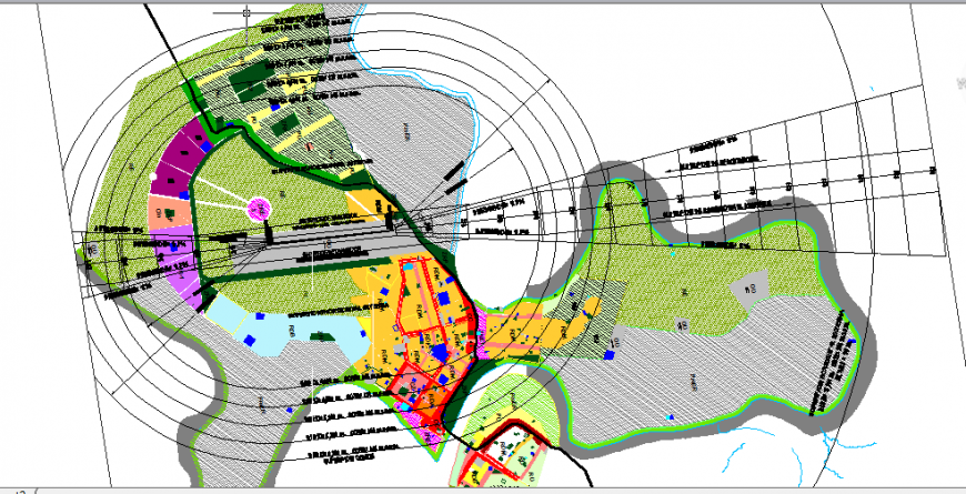 Urban development plan details of Puerto city cad drawing details dwg fil