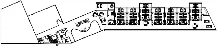 Urban hotel floor distribution plan cad drawing details dwg file