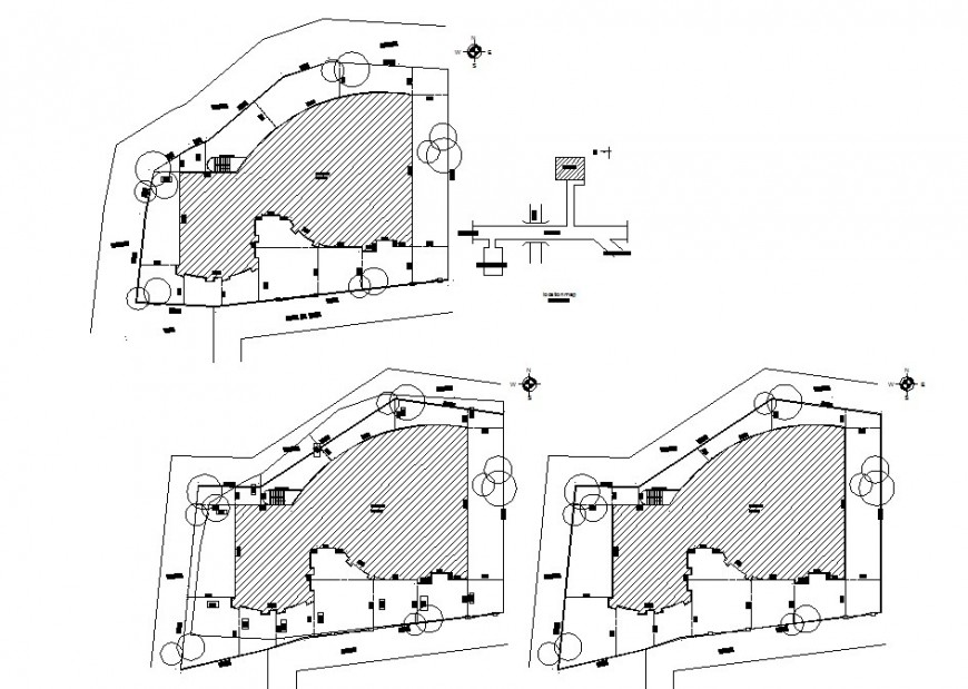 Urban planning city map drawing in dwg AutoCAD file.