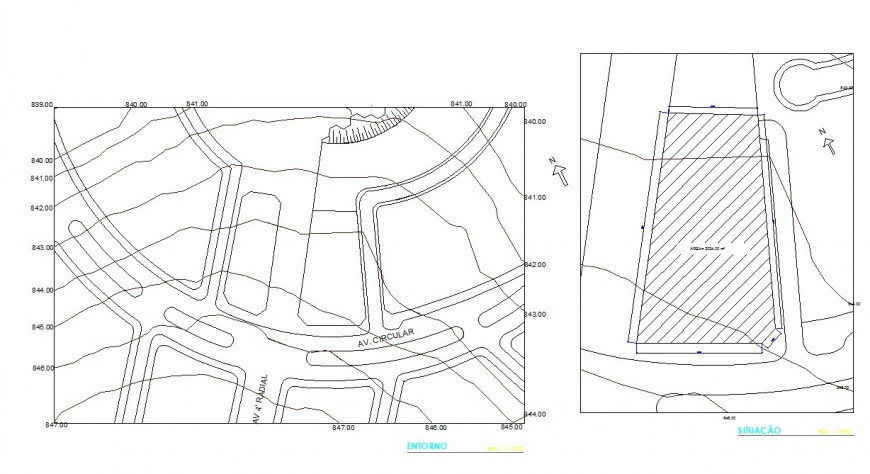 Urban planning layout map detail drawing in dwg AutoCAD file.