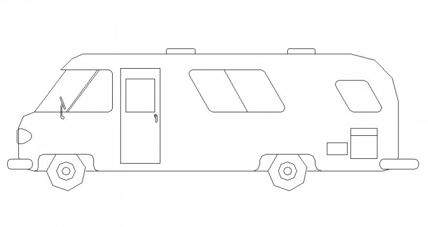 Vanity bus details elevation cad drawing in autocad