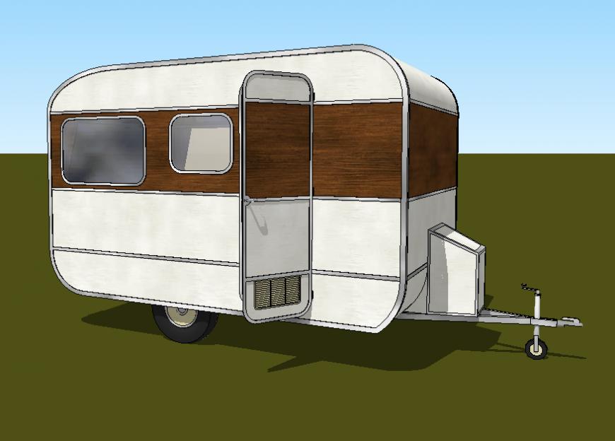 Vanity van cabinet detail elevation 3d model sketch-up file