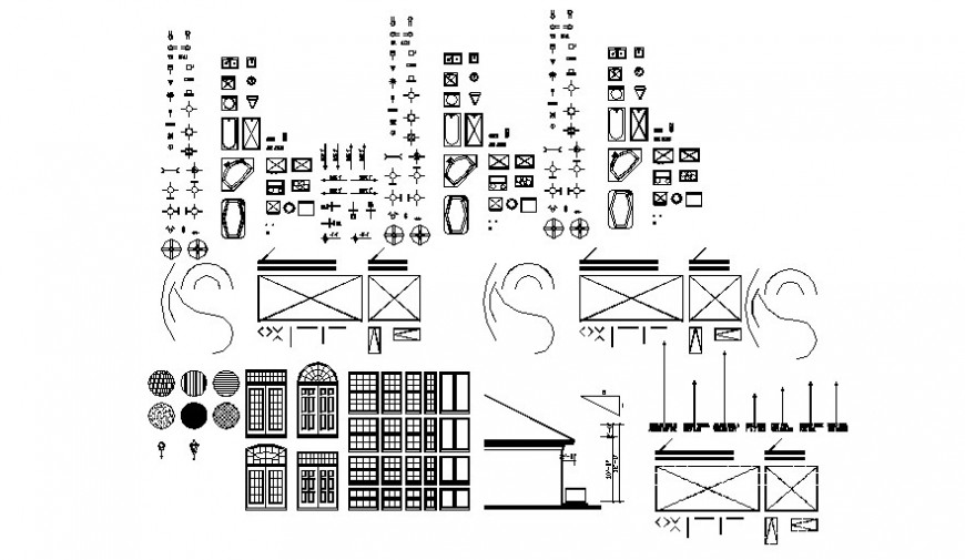 Various household blocks list drawings 2d view autocad file