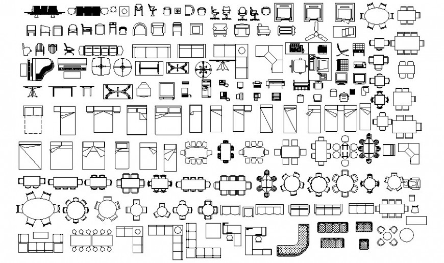 Various Housing furniture blocks drawings in autocad file