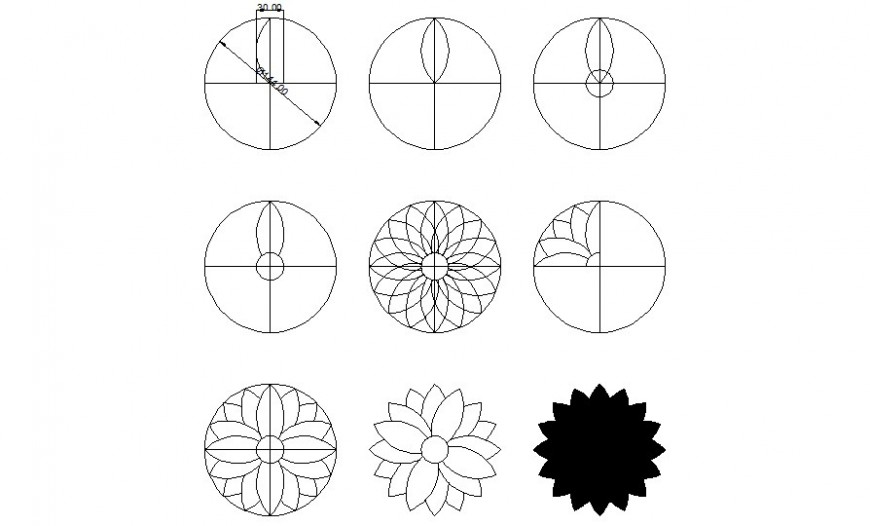 Various symbols design units drawings in autocad