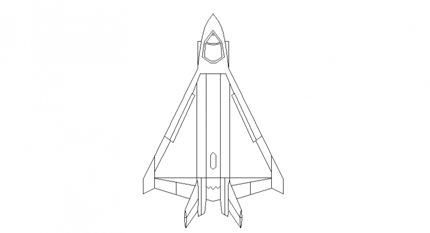 Vehicle blocks drawing details of jet plane 2d view autocad file