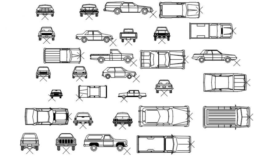 Vehicle cad block