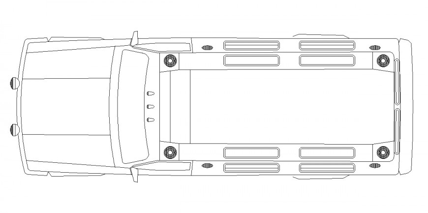 Vehicle CAD block layout file dwg format