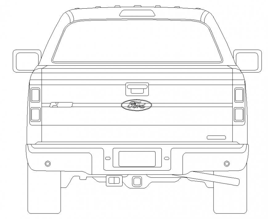 Vehicles car plan the detailing dwg file.