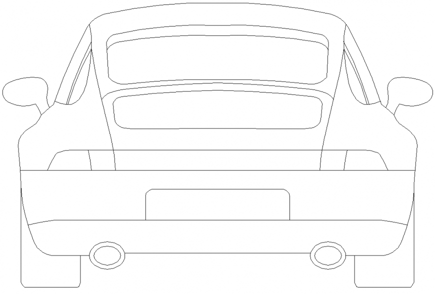 Vehicles car plan with detailing dwg file.