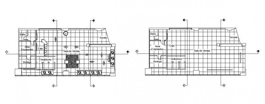 Velvet boutique layout plan detail drawing in dwg AutoCAD file.