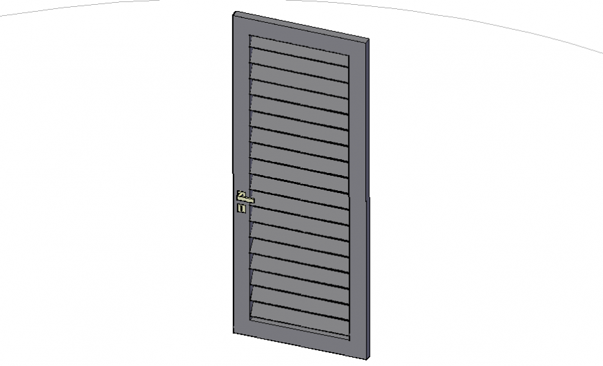 Venecian door 3d elevation cad block details dwg file